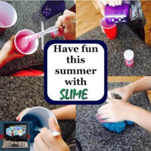 having fun with slime this summer