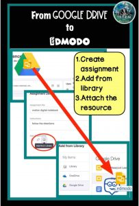 Sharing assignments from google drive to Edmodo