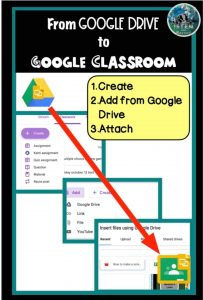 sharing assignments from google drive to google classroom