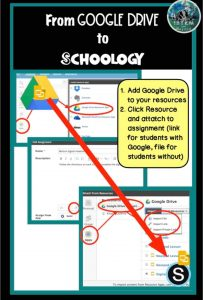sharing assignments from google drive to Schoology