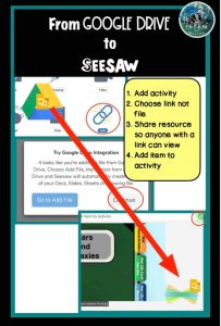 sharing assignments from google drive to Seesaw