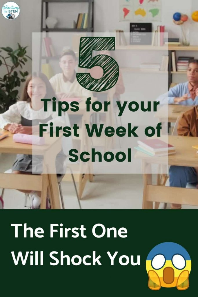 5 tips for the first week of school